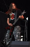 Vomitory, Peter Östlund at Party.San Metal Open Air 2013.jpg