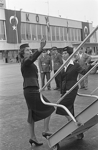Flight attendant - Dutch flight attendants, Istanbul, 1959