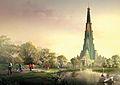Vrindavan Chandrodaya Temple Render - Front View 02.jpg
