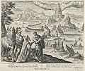 Vuurtoren van Alexandrië Pharos (titel op object) De zeven wereldwonderen (serietitel), RP-P-1886-A-10905.jpg
