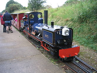 Ridable miniature railway - Image: W&WLR Locomotive 3