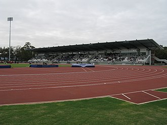 Western Australian Athletics Stadium - Image: WA Athletics Stadium Strickland Stand