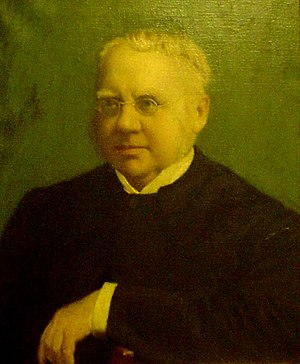 William Fiddian Moulton - Portrait of Moulton in Moulton Chapel, The Leys School, Cambridge