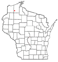 Location of Barnes, Wisconsin