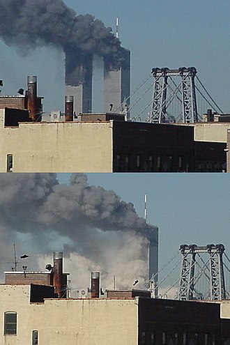 Collapse of the World Trade Center - The collapse of 2 World Trade Center seen from Williamsburg, Brooklyn