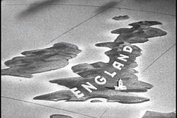A still from the 1943 propaganda film series Why We Fight, which may be interpreted as giving the name England to the whole of Great Britain