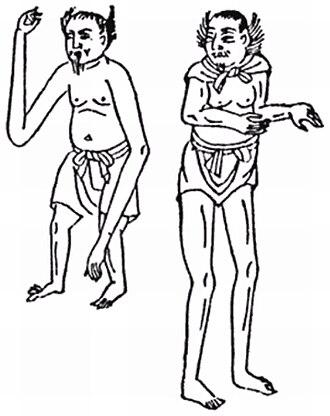 Ashinagatenaga - Ashinaga and tenaga from the Wakan Sansai Zue