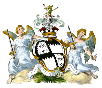 Marquess of Waterford - Arms of the Marquess of Waterford (shown with a Baron's Coronet).