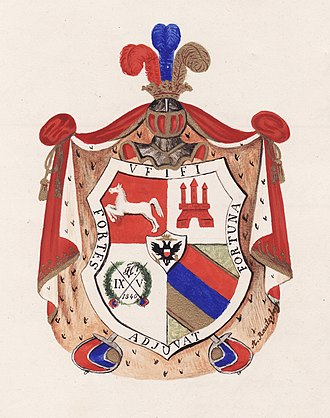Corps Hannovera Göttingen - Image: Wappen aus Constitution 1848