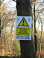 Warning Forest Operations in Wendover Woods - geograph.org.uk - 1185809.jpg