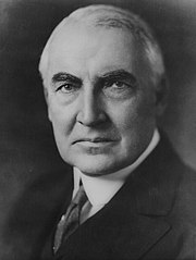 Warren G Harding portrait as senator June 1920