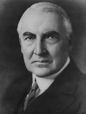 Senator (later US President) Warren G. Harding...