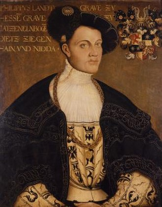 Schmalkaldic League - Portrait of Philip I, Landgrave of Hesse