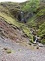 Waterfall above Glenderaterra Beck - geograph.org.uk - 416374.jpg
