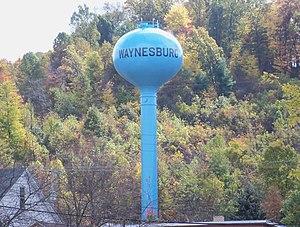Waynesburg, Ohio - Waynesburg water tower