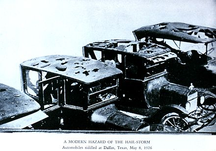 Early automobiles were not equipped to deal with hail. Wea02208 - Flickr - NOAA Photo Library.jpg