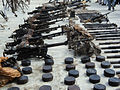 Weaponry found in Afghanistan, 2011.jpg