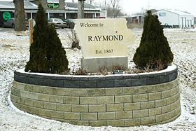 Welcome Sign for Raymond, Black Hawk County, IA.JPG