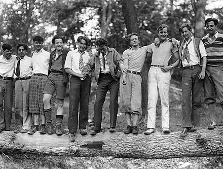 Welles (fourth from left) with classmates at the Todd School for Boys (1931) Welles-Todd-Schoolmates-1931.jpg