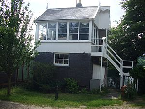 Wellow, Somerset - Disused signal box on the Somerset and Dorset Joint Railway, now privately owned