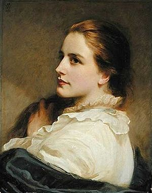"""Henry Tanworth Wells - """"Alice"""", Wells's daughter, by Henry Tanworth Wells, 1877"""