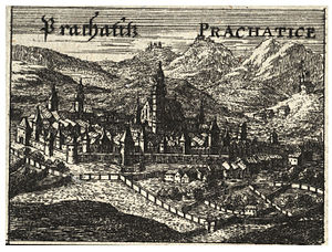 Prachatice - Engraving of the 17th century
