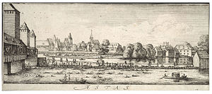 Ponts Couverts, Strasbourg - Image: Wenceslas Hollar Summer the bathing place