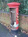 West Howe, vandalised postbox - geograph.org.uk - 1072561.jpg