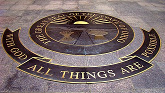 With God, all things are possible - Image: West Seal, Capitol Square, Columbus, Ohio