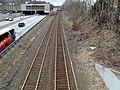 West end of abandoned Newtonville platform, March 2013.JPG