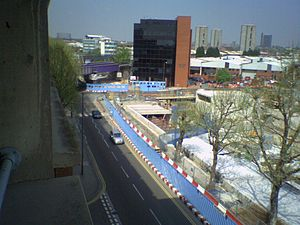 Wood Lane tube station (Central line) - The station site being redeveloped in 2006
