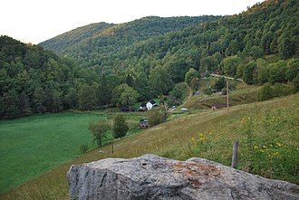 Wheeler, West Virginia - View of Wheeler from a scenic overlook