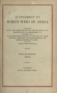 Who's Who in India Supplement 1 (1912).djvu