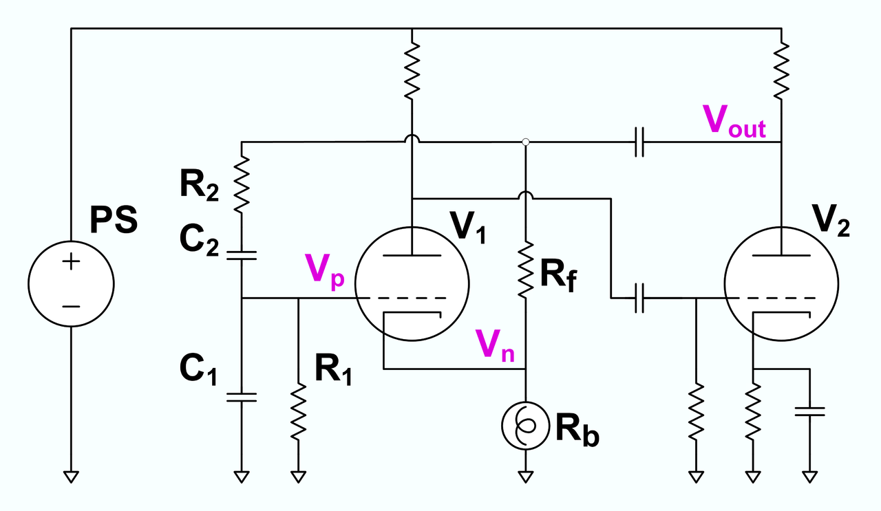 R C Oscillator Circuit Diagram Hartley Using Transistor Wiring File Wien Bridge Schematic From Hewletts Us Schematics Rc Circuits Equation