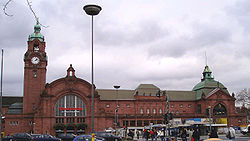 Wiesbaden railroad station, built between 1904 and 1906.