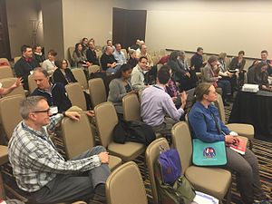 Linguistic Society of America - Attendees of a talk on Wikipedia editing at the 2016 Annual Meeting of the LSA