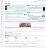 Main Page of the English Wikipedia on October 20, 2010