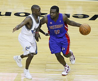 Will Bynum - Bynum (right) during his tenure with the Detroit Pistons