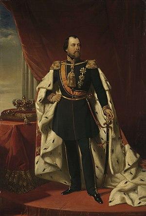 Monarchy of Luxembourg - Image: Willem III (1817 90), koning der Nederlanden, Nicolaas Pieneman, 1856 Rijksmuseum