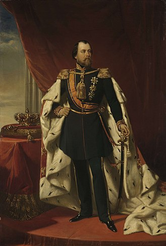 William III of the Netherlands - Portrait by Nicolaas Pieneman, 1865