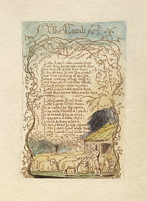 John Tavener - Image: William Blake Songs of Innocence and Experience The Lamb