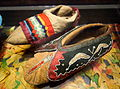 Winnebago, c. 1900, and probably Eastern Ojibwa (Chippewa), 1790-1820, moccasins - Bata Shoe Museum - DSC00665.JPG