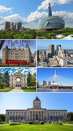 Stadtzentrum von Winnipeg