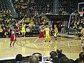 Wisconsin vs. Michigan women's basketball 2013 07 (first half action).jpg