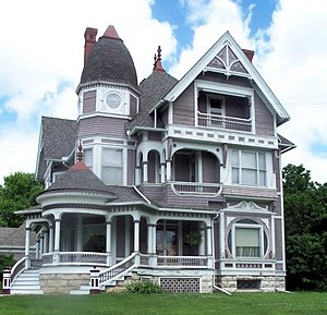 National Register of Historic Places listings in Jefferson County, Iowa - Image: Wooden Queen Anne house in Fairfield, Iowa