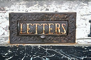 English: Wormgate letterbox 19th century lette...