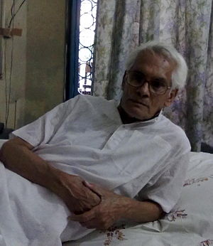 Samir Roychoudhury - Samir resting at home in Kolkata, West Bengal