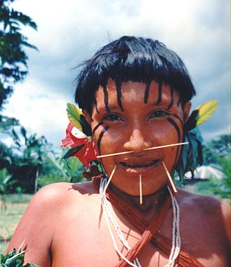Yanomami - Yanomami girl at Xidea, Brazil, August 1997.