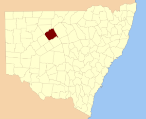 Yanda County - Location in New South Wales