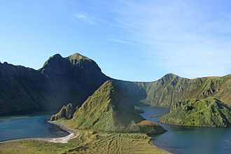 Kuril Islands - Caldera of the island Ushishir